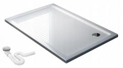 REA - Sprchová vanička Porta 90x100 pravá biela (REA-K6396)