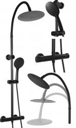 REA - Sprchový set Flex čierna matná (REA-P4000)