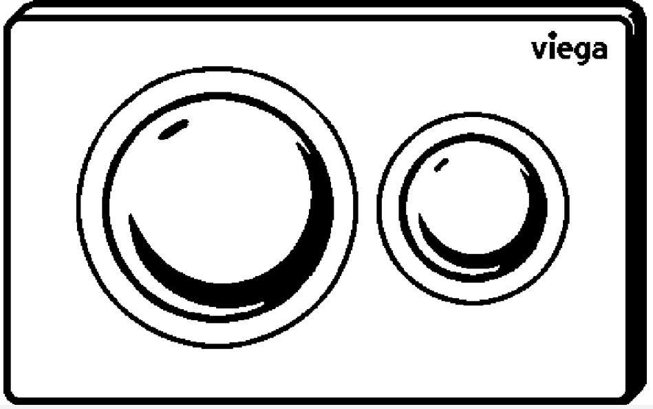 VIEGA Presvista modul PURE pre WC vrátane tlačidla Style 20 bielej + WC JIKA LYRA PLUS 49 + SEDADLO duraplastu (V771928 STYLE20BI LY3)