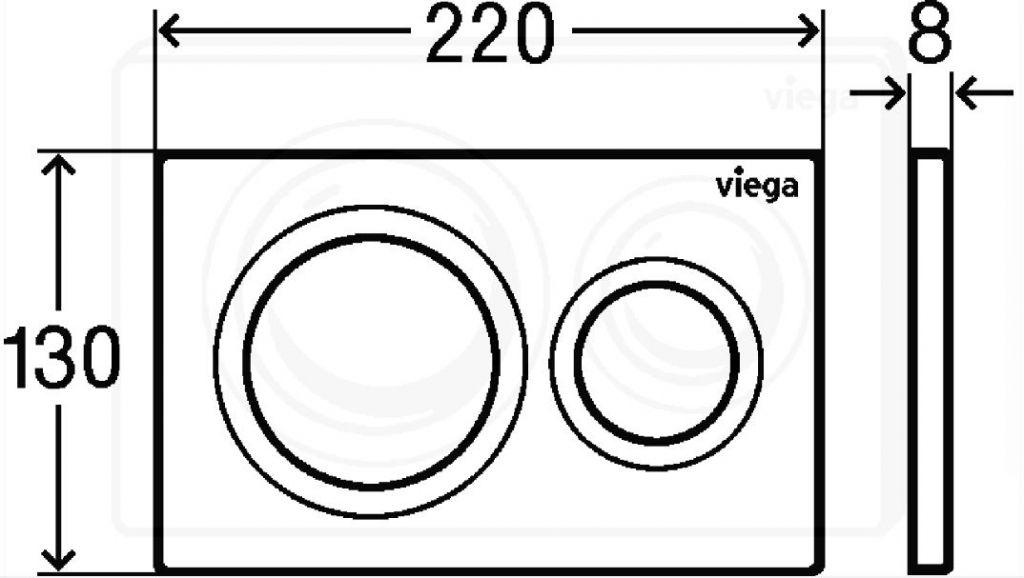 VIEGA Presvista modul DRY pre WC vrátane tlačidla Style 20 bielej + WC JIKA LYRA PLUS 49 + SEDADLO duraplastu (V771973 STYLE20BI LY3)