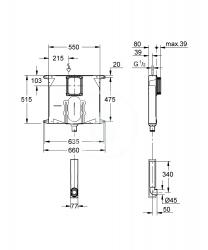 GROHE - Příslušenství Splachovacia nádržka na WC, pod omietku (38863000), fotografie 2/1
