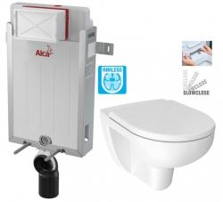 ALCAPLAST  Renovmodul - predstenový inštalačný systém bez tlačidla + WC JIKA LYRA PLUS RIMLESS + SEDADLO duraplastu SLOWCLOSE (AM115/1000 X LY2)
