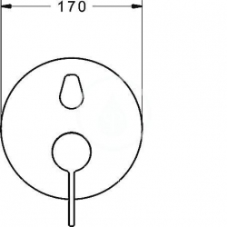 HANSA - Loft Páková vaňová batéria pod omietku, chróm (87723003), fotografie 4/2