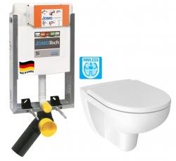 JOMO modul pre zamurovanie bez sedátka + WC JIKA LYRA PLUS RIMLESS + SEDADLO duraplastu (164-14600479-00 LY1)