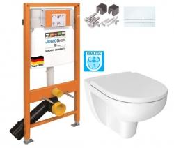 JOMOTech modul pre závesné WC s bielou doskou + WC JIKA LYRA PLUS RIMLESS + SEDADLO duraplastu (174-91100900-00 LY1)