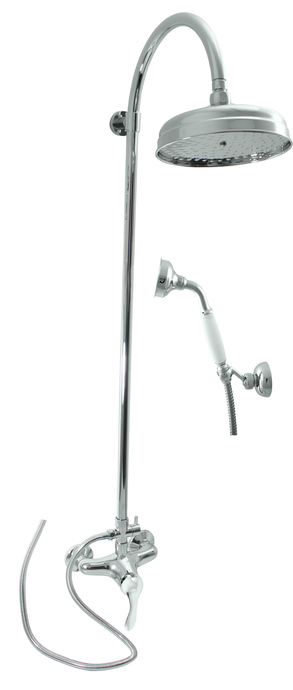 SLEZAK-RAV - Vodovodné batérie sprchová LABE s hlavovou a ručnou sprchou, Farba: chróm, Rozmer: 150 mm L081.5 / 3