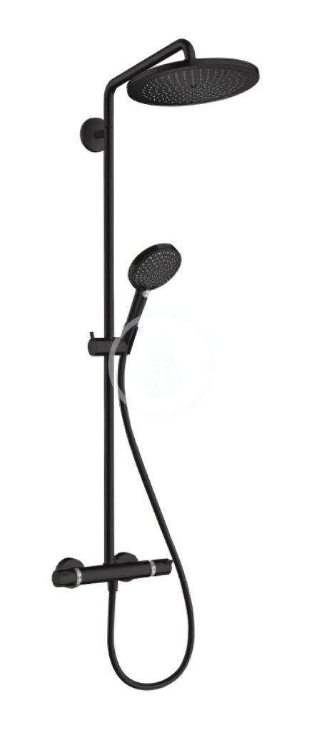 HANSGROHE HANSGROHE - Croma Select S Sprchový set Showerpipe 280 s termostatom, EcoSmart, matná čierna 26891670