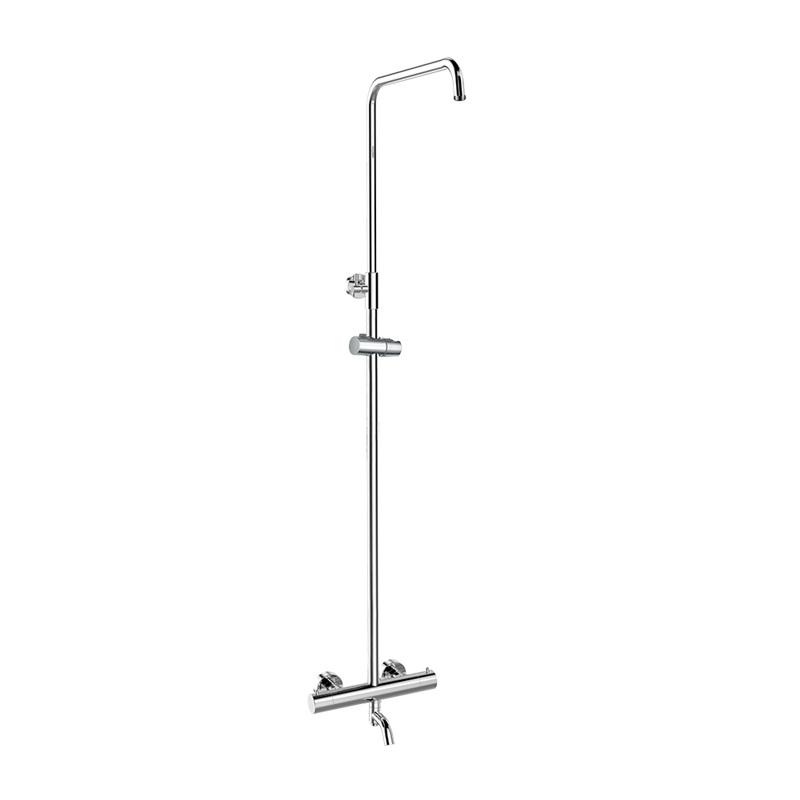 MEREO - Termostatická nástenná vaňová batéria so sprchovou súpravou bez prísl. (tanier, sprcha, hadica) CB60101TS1