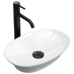 REA - Umývadlo na dosku Lavi Mini 41x27,5 biela (REA-U6584)