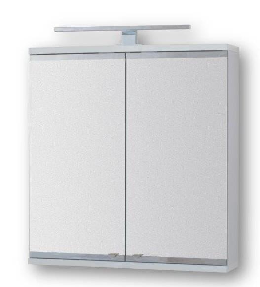 HOPA - Vrchní zrcadlová skříňka ARLES s LED osvětlením - Rozměry skříněk - 60 × 64 × 15 cm (OLNARL60)