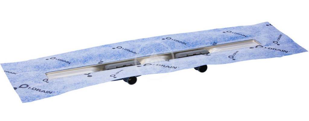 I-Drain - Linear 54 Sprchový žľab z nehrdzavejúcej ocele, dĺžka 900 mm, dvojsifónový s hydroizoláciou ID4M09002X1