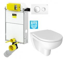 VIEGA Presvista modul PURE pre WC vrátane tlačidla Style 20 bielej + WC JIKA LYRA PLUS RIMLESS + SEDADLO duraplastu (V771928 STYLE20BI LY1)