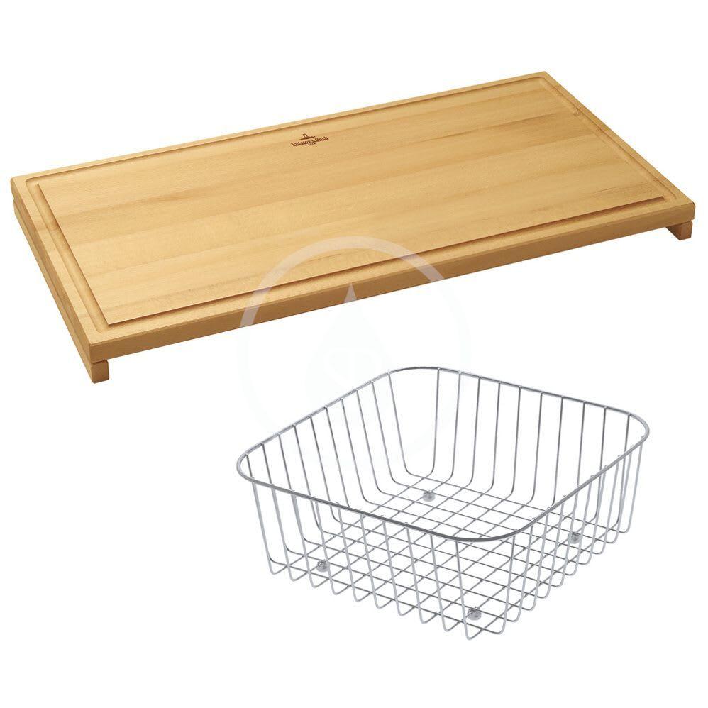 VILLEROY & BOCH - Příslušenství Sada přípravné desky a košíku, buk/nerez (8K991000)