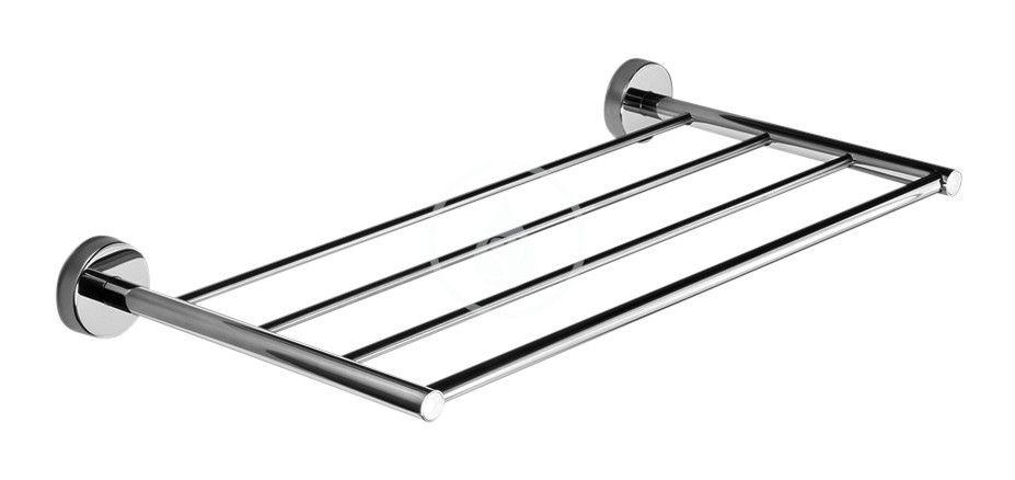 SANELA - Nerezové doplňky Nerezová polička na ručníky, délka 500 mm, lesklá nerez SLZD 34