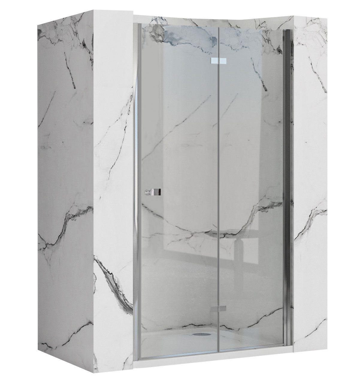 REA/S - Zalamovací sprchové dveře Best 100 + profil (REA-K1305SET)
