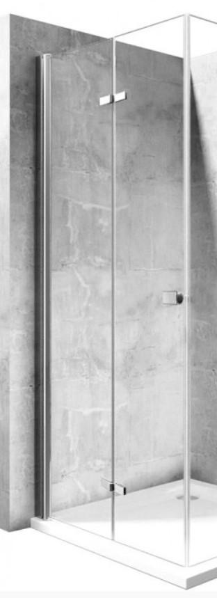 REA - Zalamovacie sprchové dvere Best 100 bez profilu pro niku REA-K1305