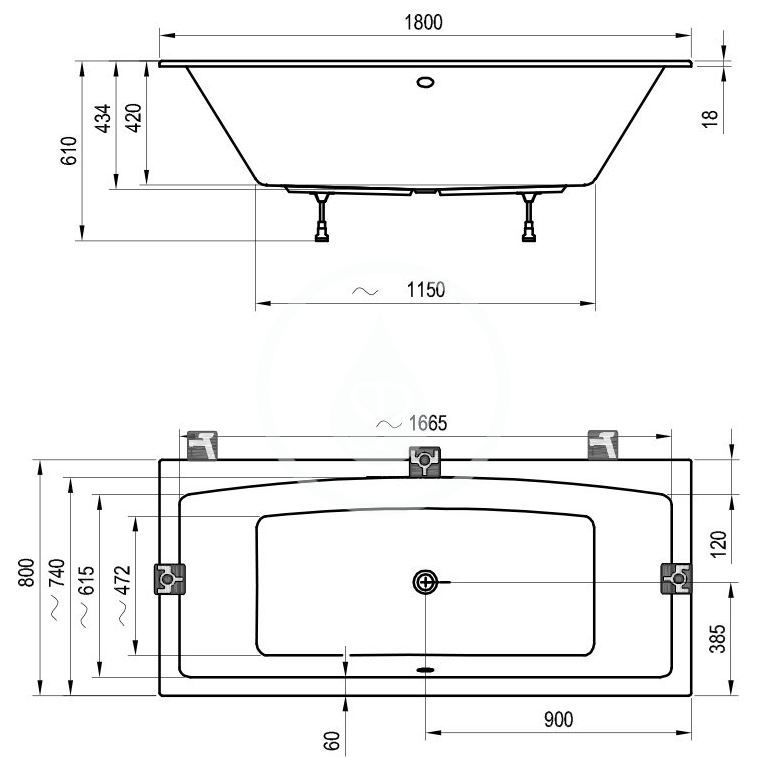 RAVAK - Formy 02 Slim Vaňa 1800x800 mm, biela (C891300000)