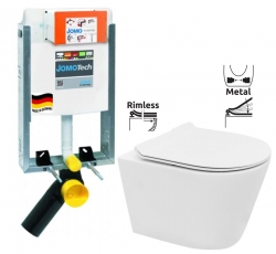 JOMO modul pre zamurovanie bez sedátka + WC REA TOMAS RIMFLESS  + SEDADLO (164-14600479-00 TO1)
