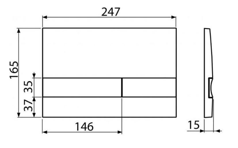 ALCAPLAST  Renovmodul - predstenový inštalačný systém s chrómovým tlačidlom M1721 + WC REA TOMAS RIMFLESS  + SEDADLO (AM115/1000 M1721 TO1)