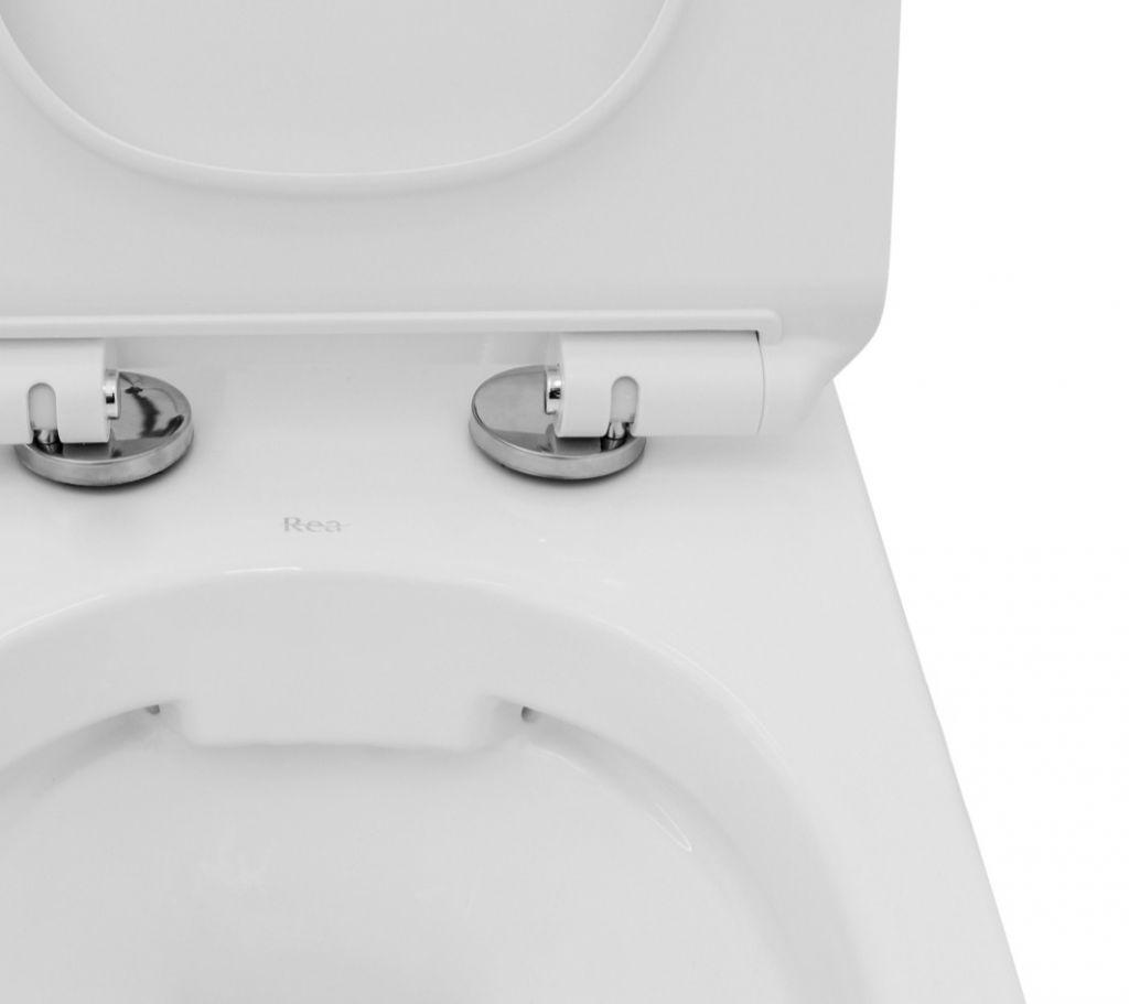 ALCAPLAST  Renovmodul - predstenový inštalačný systém bez tlačidla + WC REA TOMAS RIMFLESS  + SEDADLO (AM115/1000 X TO1)