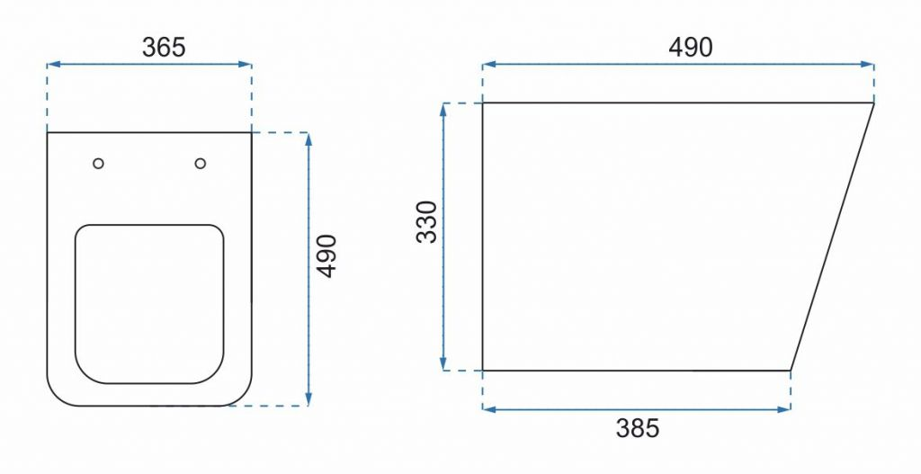 CERSANIT nádržka AQUA 02 bez tlačidla + WC REA TOMAS RIMFLESS  + SEDADLO (S97-063 TO1)