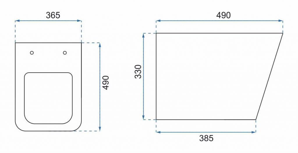 VIEGA Presvista modul PURE pre WC vrátane tlačidla Style 20 bielej + WC REA TOMAS RIMFLESS  + SEDADLO (V771928 STYLE20BI TO1)