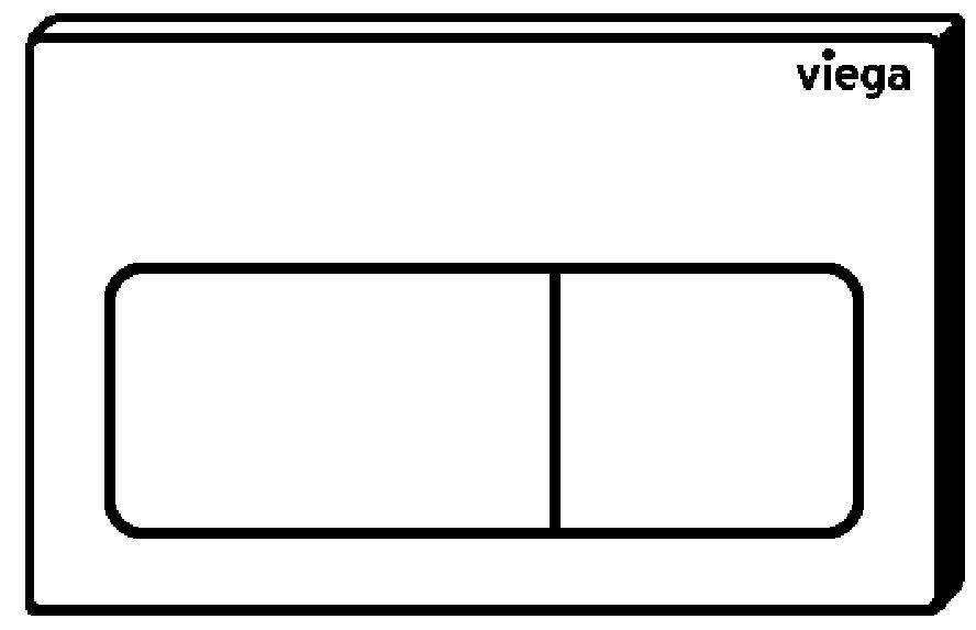 VIEGA Presvista modul DRY pre WC vrátane tlačidla Life5 CHROM + WC REA TOMAS RIMFLESS  + SEDADLO (V771973 LIFE5CR TO1)