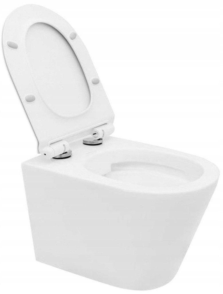 VIEGA Presvista modul DRY pre WC vrátane tlačidla Style 20 bielej + WC REA TOMAS RIMFLESS  + SEDADLO (V771973 STYLE20BI TO1)