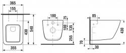 ALCAPLAST  Renovmodul - predstenový inštalačný systém s bielym tlačidlom M1710 + WC JIKA PURE + SEDADLO duraplast (AM115/1000 M1710 PU1), fotografie 22/11