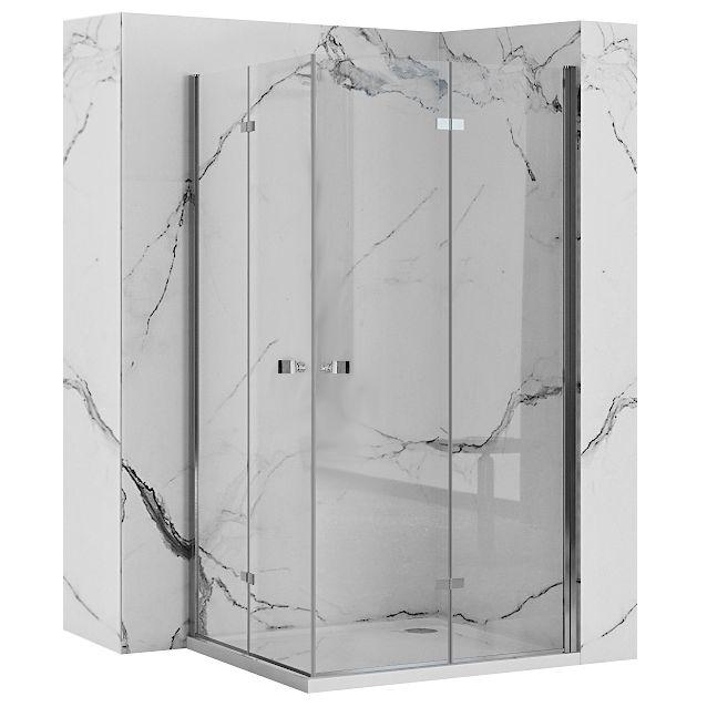 REA/S - Sprchovací kút BEST zalamovacie dvere / dvere 100x100 BESTDD100100