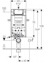 GEBERIT KOMBIFIX ECO, nádržka UP 320 bez ovládacej dosky + WC JIKA PURE + SEDADLO duraplast (110.302.00.5 PU1), fotografie 6/16