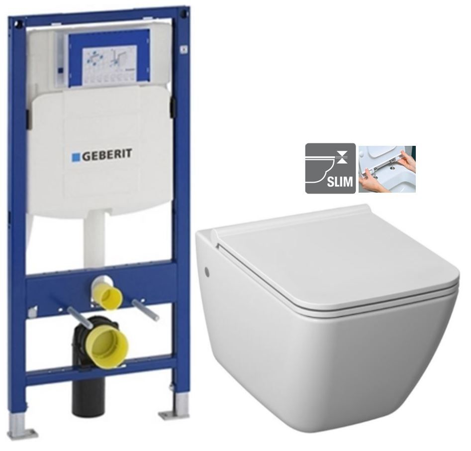 GEBERIT Duofix bez ovládacej dosky + WC JIKA PURE + SEDADLO duraplast 111.300.00.5 PU1