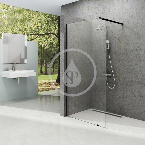 RAVAK - Walk-In Sprchová stena Walk-in Wall 150, 1500x2000 mm, čierna/číre sklo (GW9WP0300Z1)