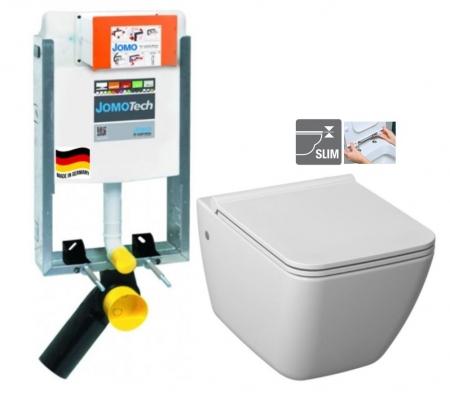 JOMO modul pre zamurovanie bez sedátka + WC JIKA PURE + SEDADLO duraplast (164-14600479-00 PU1)