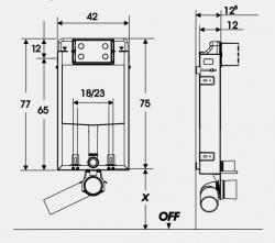 JOMO modul pre zamurovanie bez sedátka + WC JIKA PURE + SEDADLO duraplast (164-14600479-00 PU1), fotografie 22/14