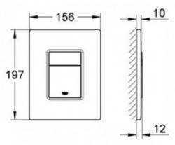 Rapid SL pre závesné WC 38528SET s chrómovou doskou + WC JIKA PURE + SEDADLO duraplast (38772001 PU1), fotografie 24/15