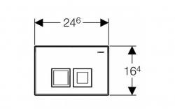 GEBERIT DuofixBasic s chrómovým tlačidlom DELTA50 + WC JIKA PURE + SEDADLO duraplast (458.103.00.1 50CR PU1), fotografie 24/16
