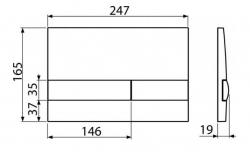 ALCAPLAST  Sádromodul - predstenový inštalačný systém s bielym tlačidlom M1710 + WC JIKA PURE + SEDADLO duraplast (AM101/1120 M1710 PU1), fotografie 26/15