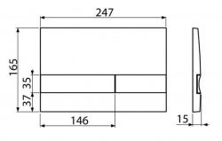 ALCAPLAST  Sádromodul - predstenový inštalačný systém s bielym / chróm tlačidlom M1720-1 + WC JIKA PURE + SEDADLO duraplast (AM101/1120 M1720-1 PU1), fotografie 26/15