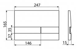 ALCAPLAST Sádromodul - predstenový inštalačný systém s chrómovým tlačidlom M1721 + WC JIKA PURE + SEDADLO duraplast (AM101/1120 M1721 PU1), fotografie 24/15