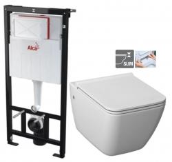 ALCAPLAST Sádromodul - predstenový inštalačný systém bez tlačidla + WC JIKA PURE + SEDADLO duraplast (AM101/1120 X PU1)