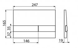 ALCAPLAST  Jádromodul - predstenový inštalačný systém s bielym tlačidlom M1710 + WC JIKA PURE + SEDADLO duraplast (AM102/1120 M1710 PU1), fotografie 26/15