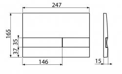 ALCAPLAST Jádromodul - predstenový inštalačný systém s bielym / chróm tlačidlom M1720-1 + WC JIKA PURE + SEDADLO duraplast (AM102/1120 M1720-1 PU1), fotografie 26/15