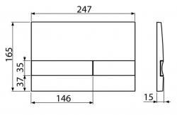ALCAPLAST  Renovmodul - predstenový inštalačný systém s bielym / chróm tlačidlom M1720-1 + WC JIKA PURE + SEDADLO duraplast (AM115/1000 M1720-1 PU1), fotografie 26/15