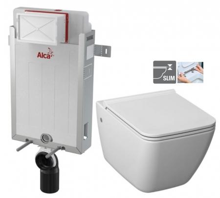 ALCAPLAST  Renovmodul - predstenový inštalačný systém bez tlačidla + WC JIKA PURE + SEDADLO duraplast (AM115/1000 X PU1)