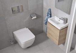 LAUFEN Rámový podomietkový modul CW1 SET s bielym tlačidlom + WC JIKA PURE + SEDADLO duraplast (H8946600000001BI PU1), fotografie 4/15