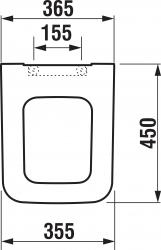 LAUFEN Rámový podomietkový modul CW1 SET s bielym tlačidlom + WC JIKA PURE + SEDADLO duraplast (H8946600000001BI PU1), fotografie 2/15
