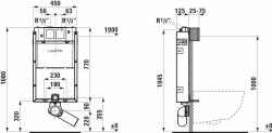 LAUFEN Podomít. systém LIS TW1 SET s chrómovým tlačidlom + WC JIKA PURE + SEDADLO duraplast (H8946630000001CR PU1), fotografie 20/15