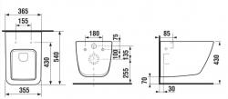 LAUFEN Podomít. systém LIS TW1 SET s chrómovým tlačidlom + WC JIKA PURE + SEDADLO duraplast (H8946630000001CR PU1), fotografie 28/15