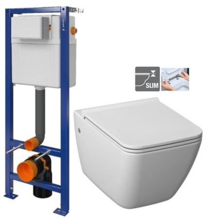 CERSANIT nádržka AQUA 02 bez tlačidla + WC JIKA PURE + SEDADLO duraplast (S97-063 PU1)